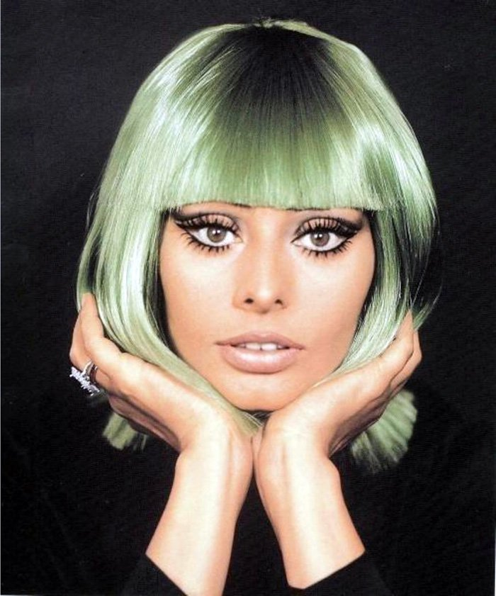 Софи Лорен – фото в парике