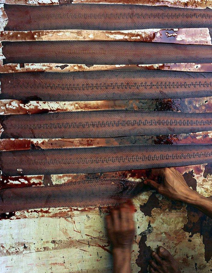 Окраска змеиной кожи для женских сумок, фото