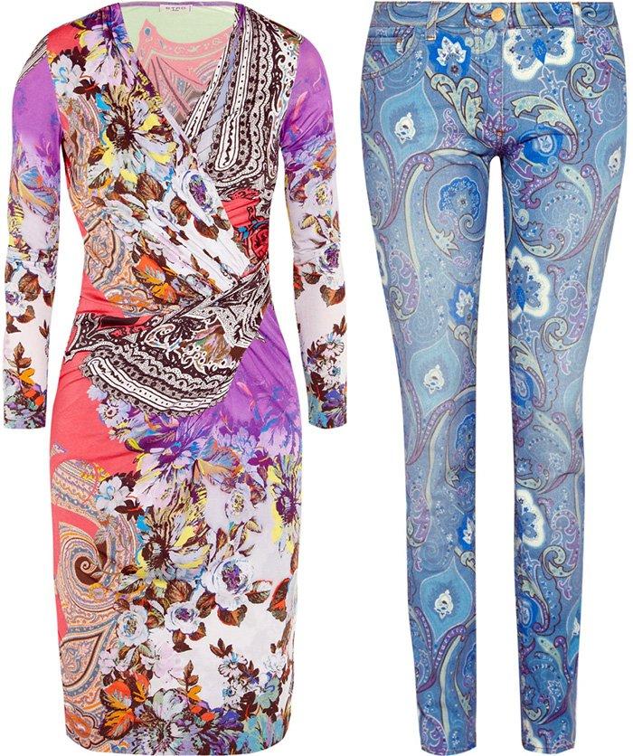 Платье и джинсы от Этро