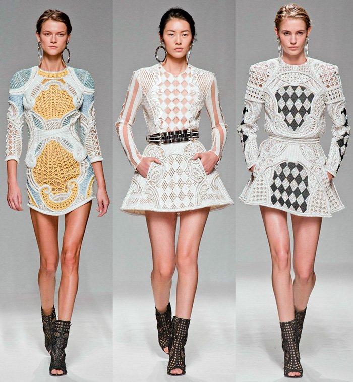 платья Balmain 2013, фото платьев