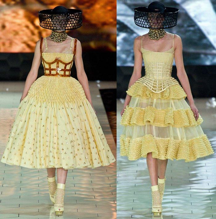 Alexander McQueen платья весна-лето 2013, фото платьев