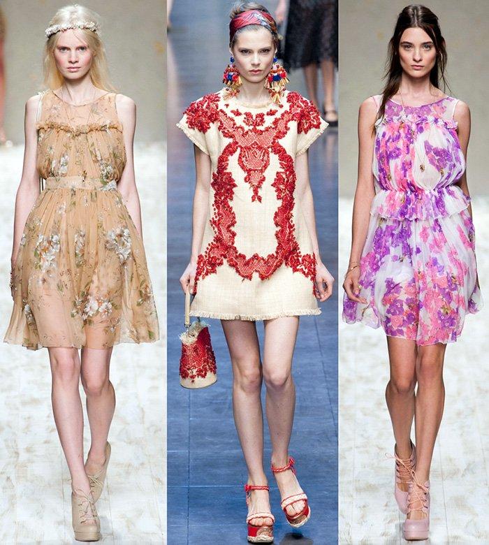 Модные платья весна-лето – 2013 фото