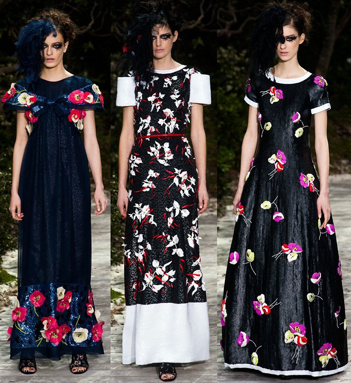 Платья с цветами от кутюр