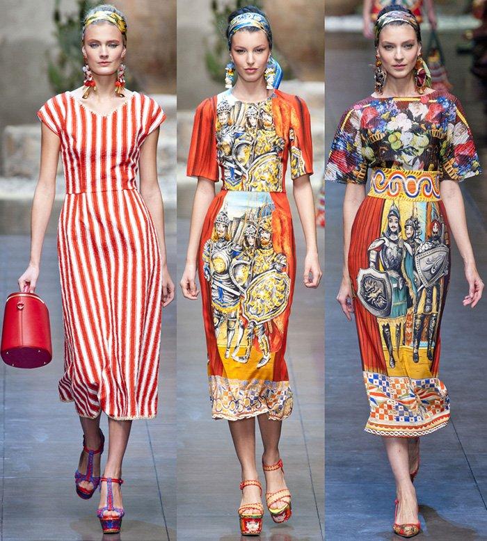 Модные платья Dolce &Gabbana весна-лето 2013 фото