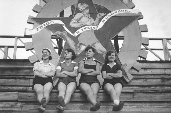 Советское фото, женщины и тренировки, спорт, фитнес