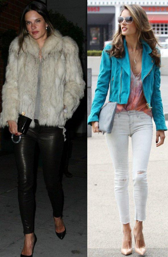 Модель Алессандра Амбросио - фото стиль одежды