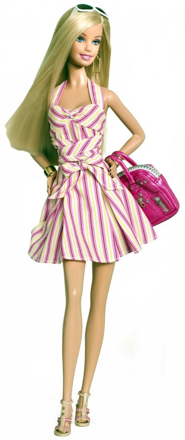 Блондинка Барби фото с сумкой