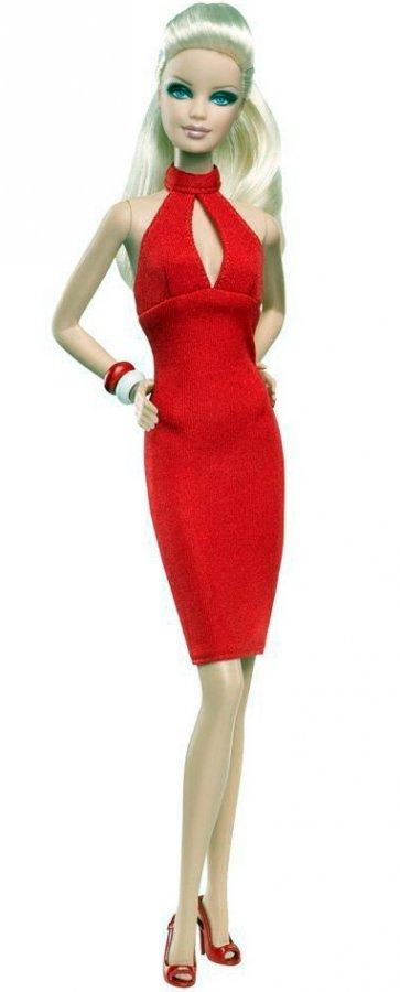 Барби фото в красном платье