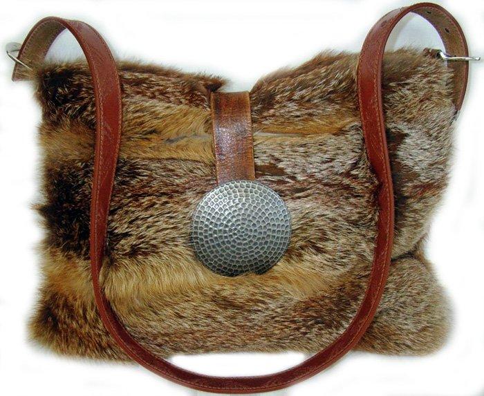 Сумка из натурального меха лисы, фото