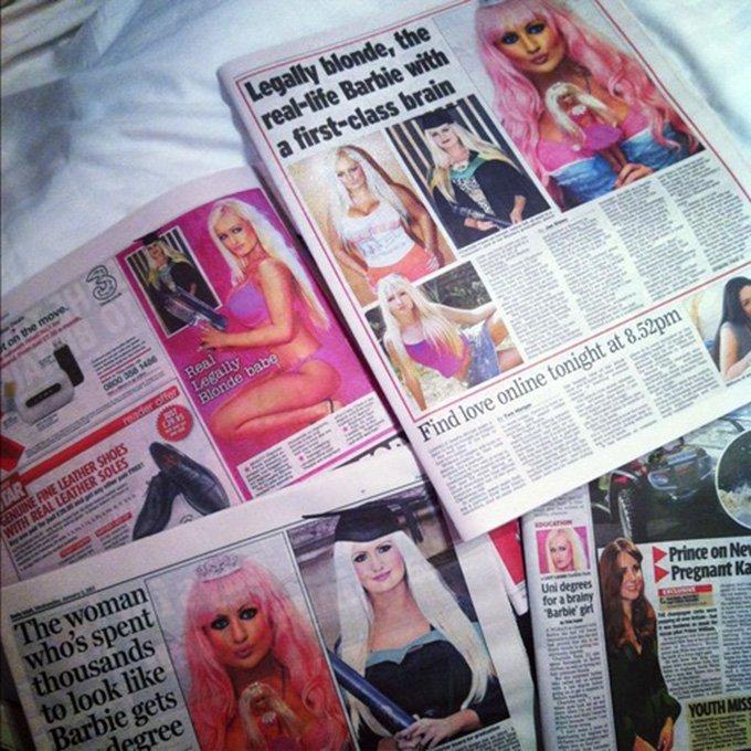 Статьи в печатных СМИ о Барби