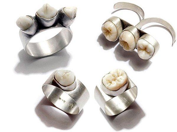 Необычные серебряные украшения, фото