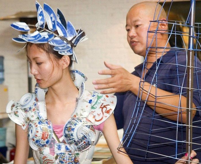 Китайские платья из керамики