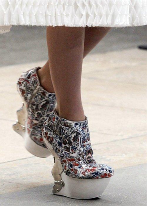 Обувь из китайской керамики фото