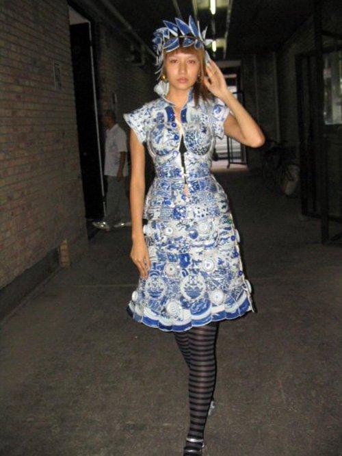 китайские платья из керамики, фотосессия