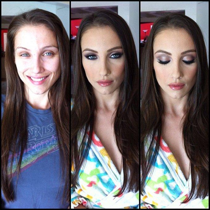 Преображение с помощью макияжа