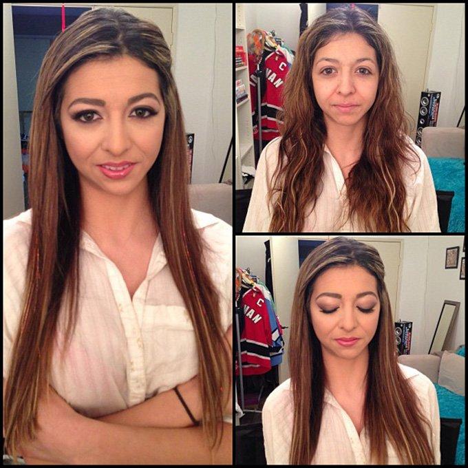 Профессиональная косметика и макияж, фото до и после