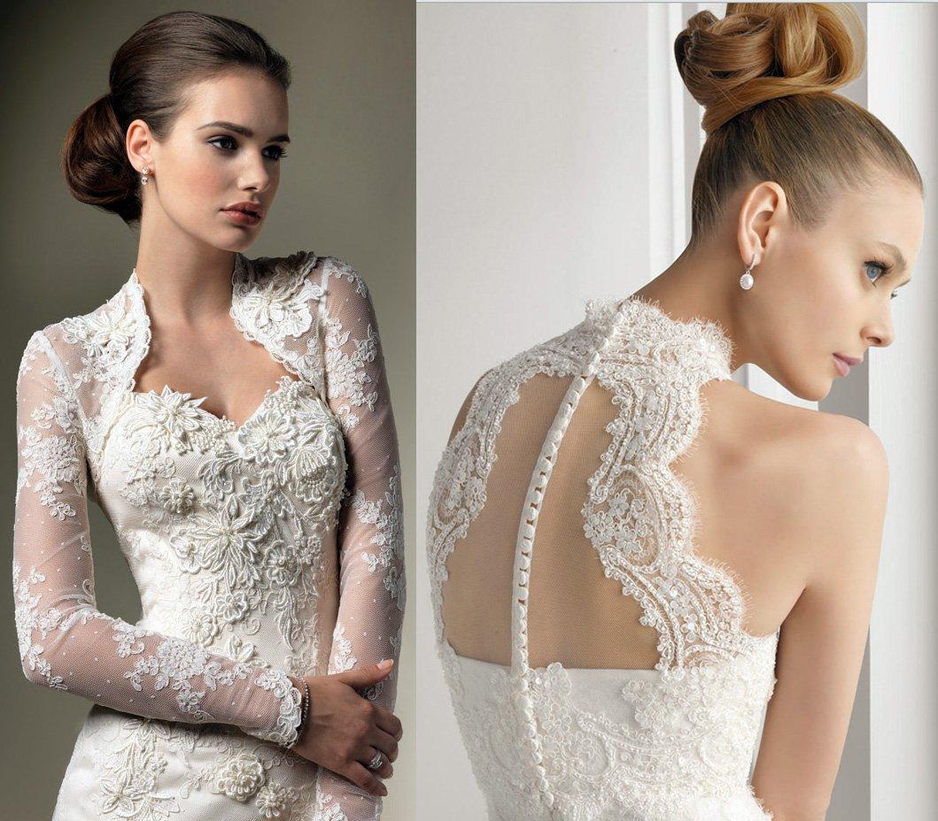 Кружевная ткань на свадебное платье