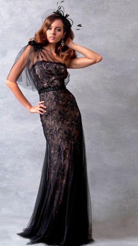 Черное свадебное платье фото