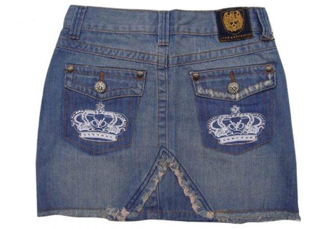 Делаем юбку из старых джинсов фото