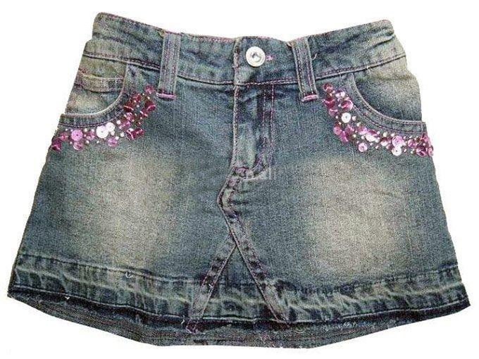 Как сшить юбку из 2 джинс