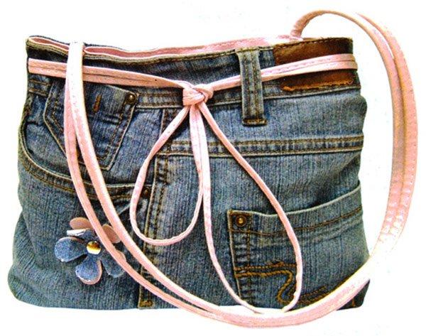 Сумка, сшитая своими руками из джинсов, фото