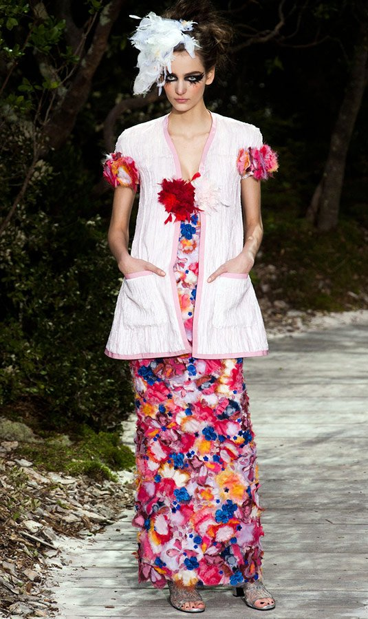 CHANEL Haute Couture 3Д цветы фото