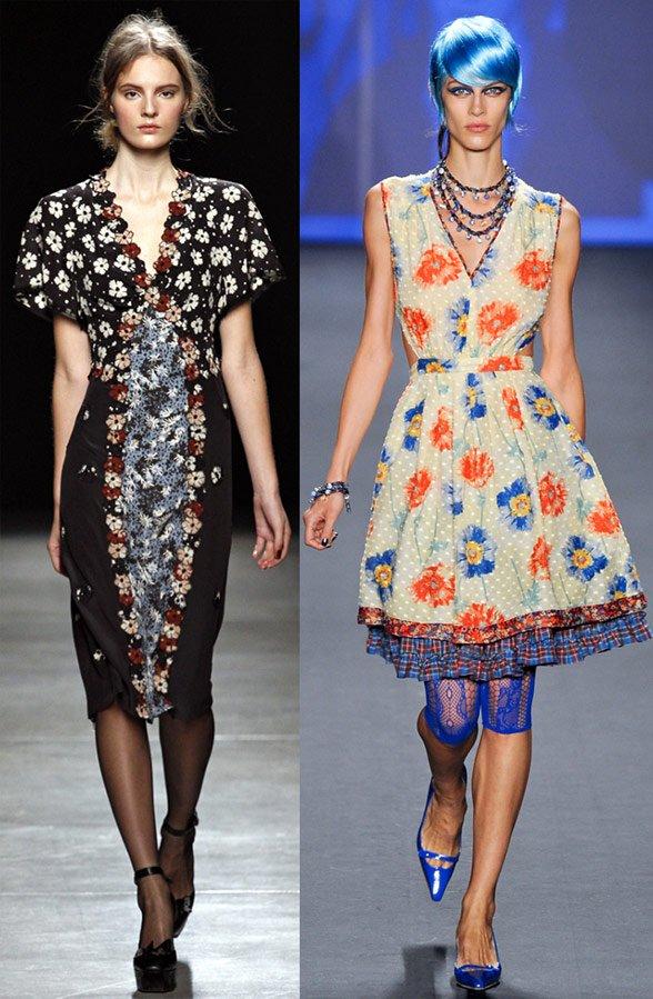 Цветы в моде весной и летом 2013