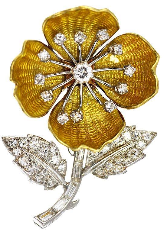 Цветок с бриллиантами фото