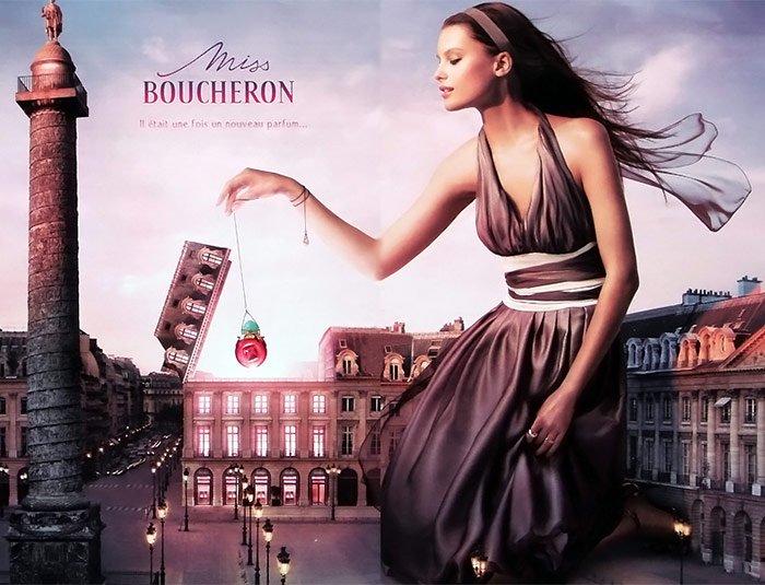 Духи Бушерон – рекламная компания