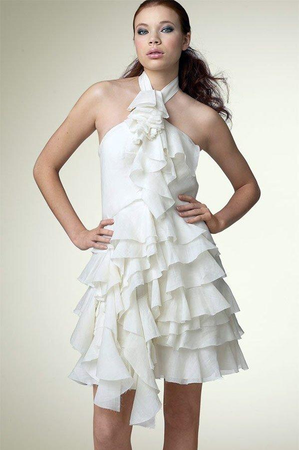 Платье с воланами, фото