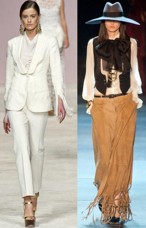 Модные тенденции 2013, бахрома, фото
