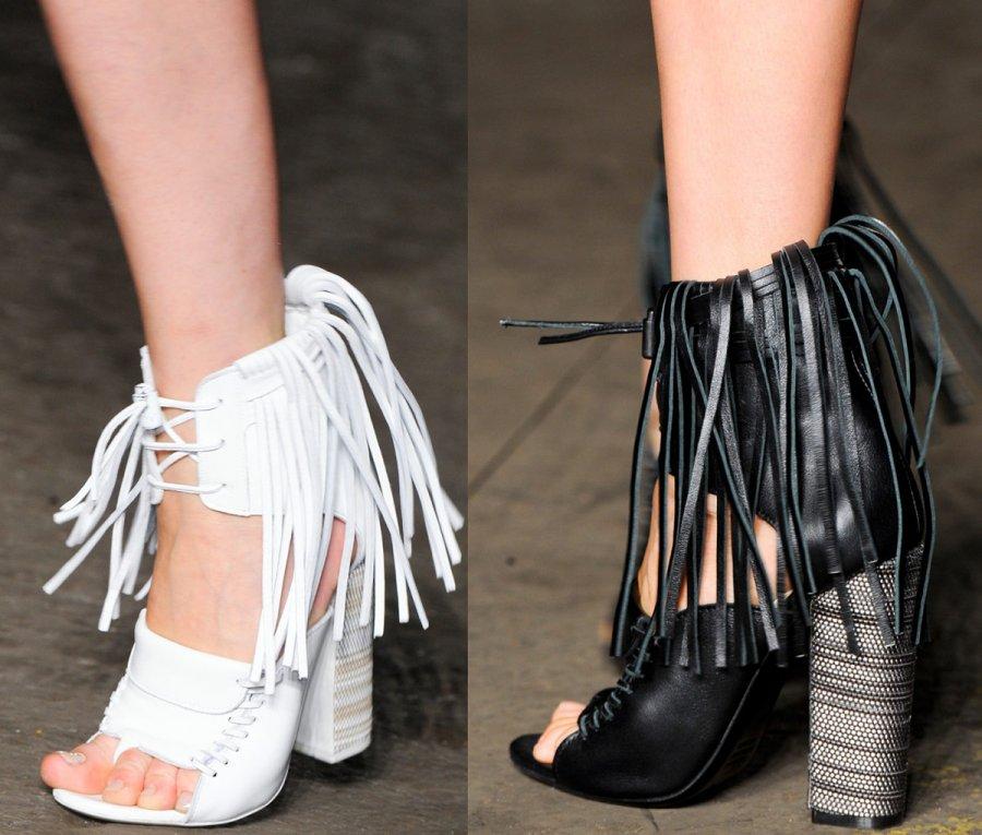 Бахрома как элемент декора обуви 2013 фото