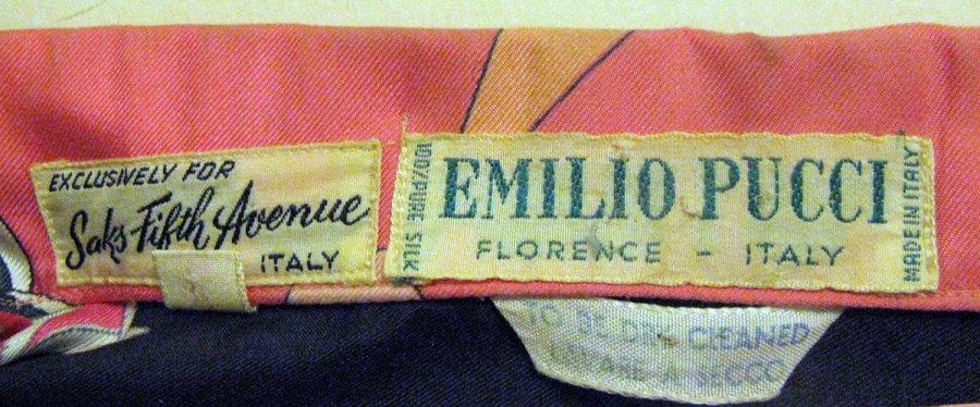 история бренда Emilio Pucci, фото