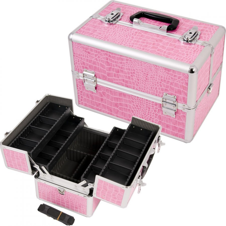 Розовый ящичек для косметики