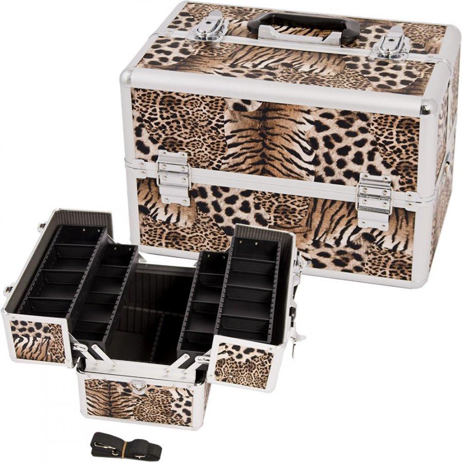 Ящик для косметики - звериный принт