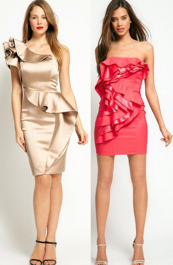 Платья с воланами на выпускной 2013, фото