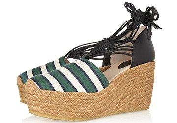 Обувь на танкетке