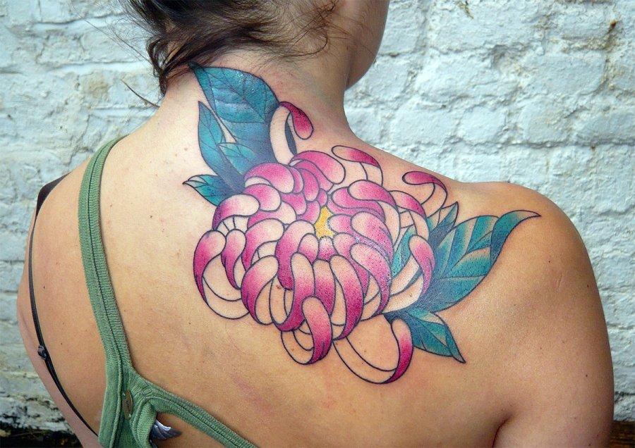Японская хризантема татуировка фото