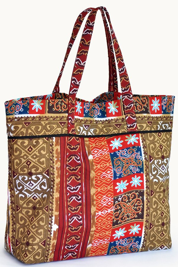 Пляжная сумка - принты фото
