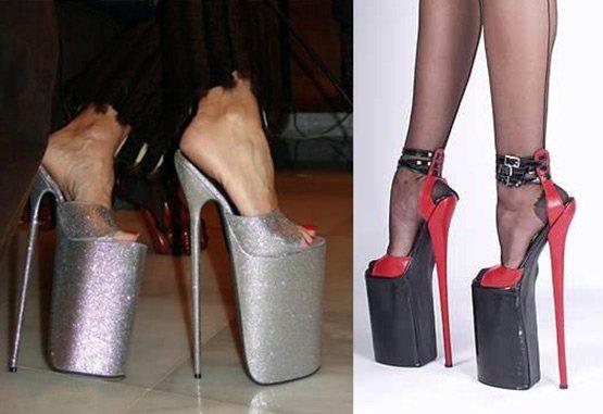 Обувь на высоких каблуках, фото