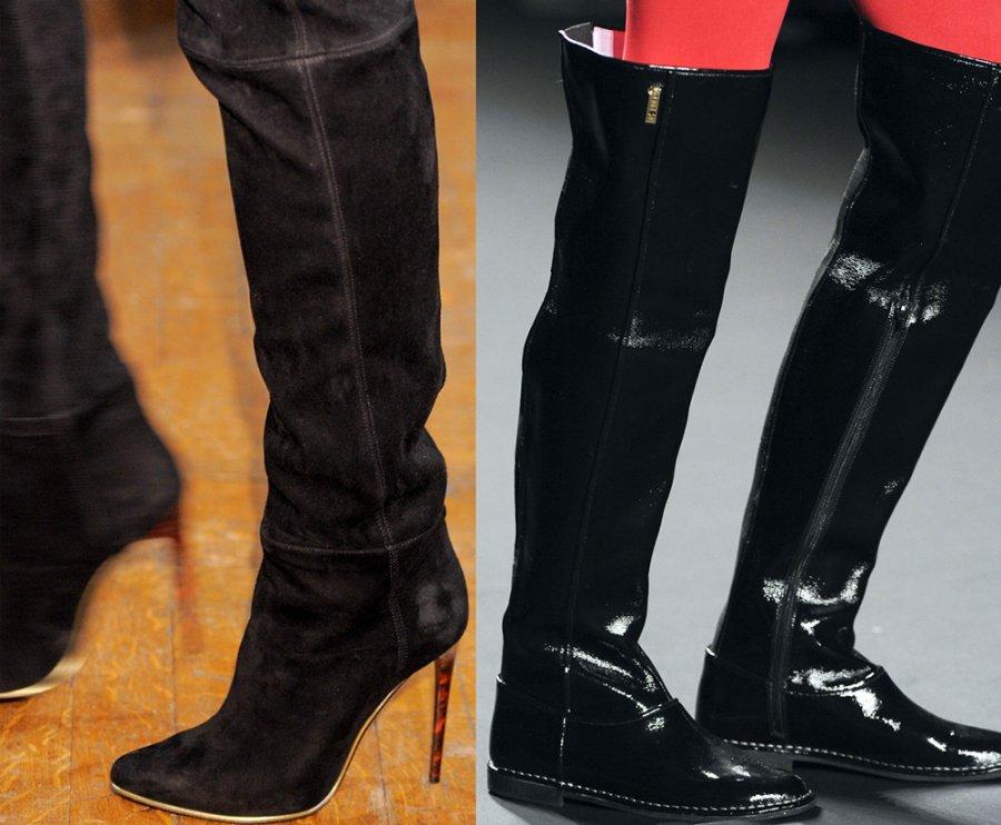 Модные сапоги Balmain и Anna Sui фото