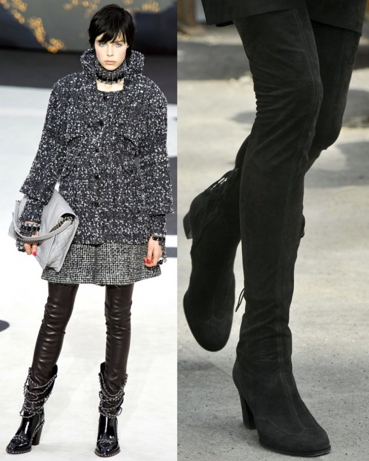 Модные сапоги Chanel осень-зима-2013-2014 фото