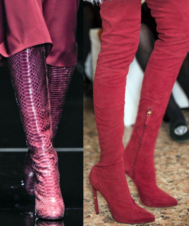 Модные сапоги Gucci, Emilio Pucci 2013-2014 фото