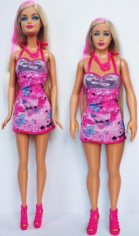 Сравнение пропорций Барби