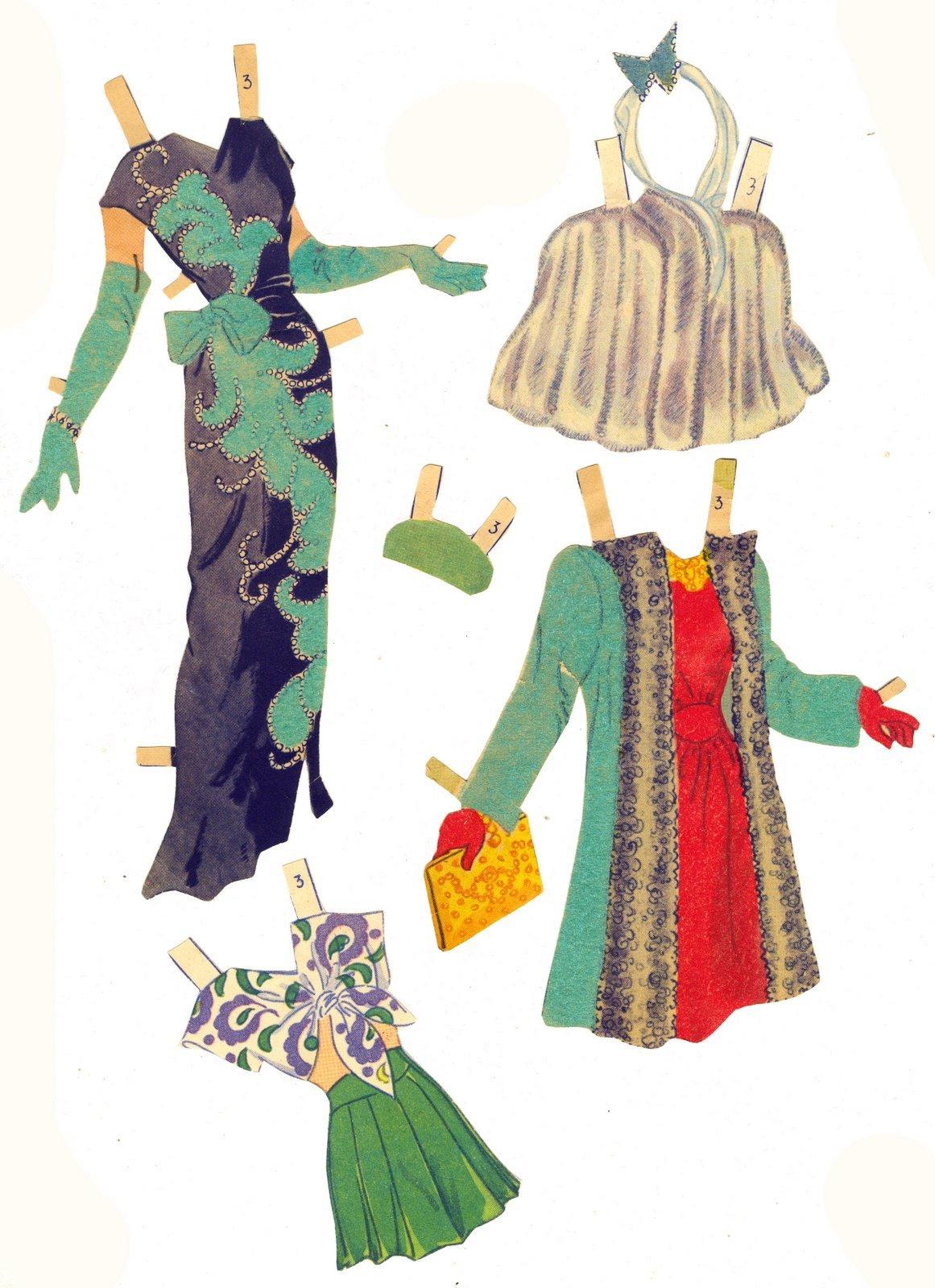 Как сделать бумажные платья для кукол