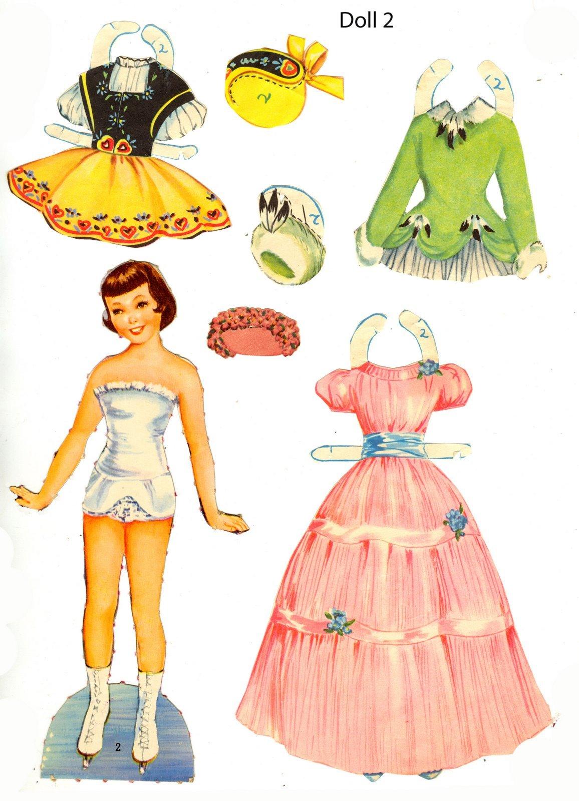 Бумажные куклы в бальных платьях