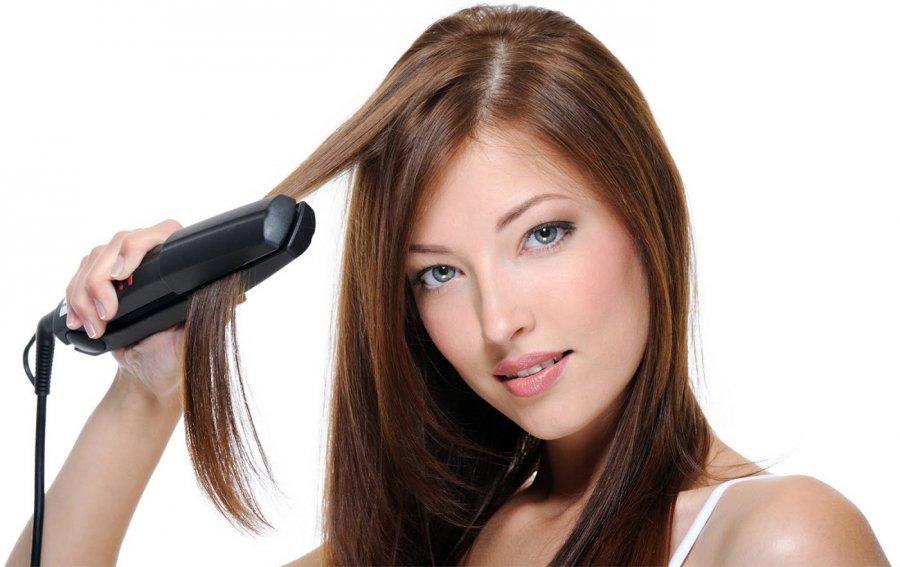 Выпрямление волос, фото