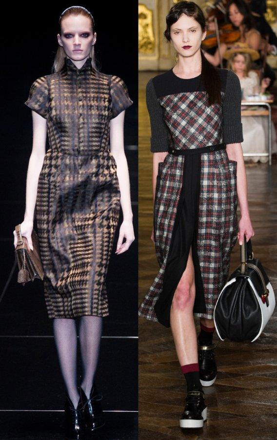 Платья от Gucci и Antonio Marras осень-зима 2013-2014, фото