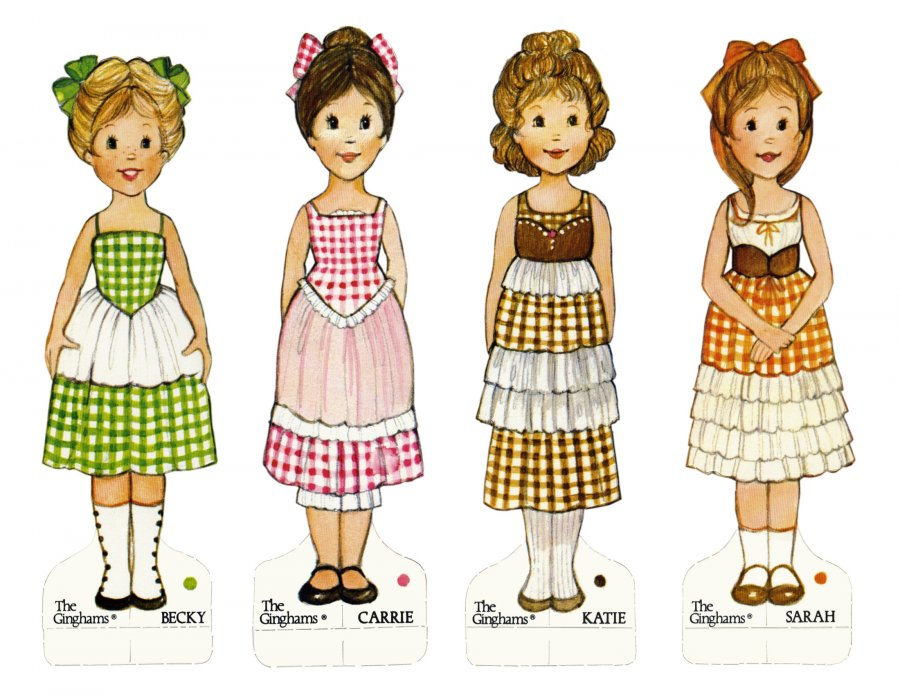 Бумажные куклы, фото