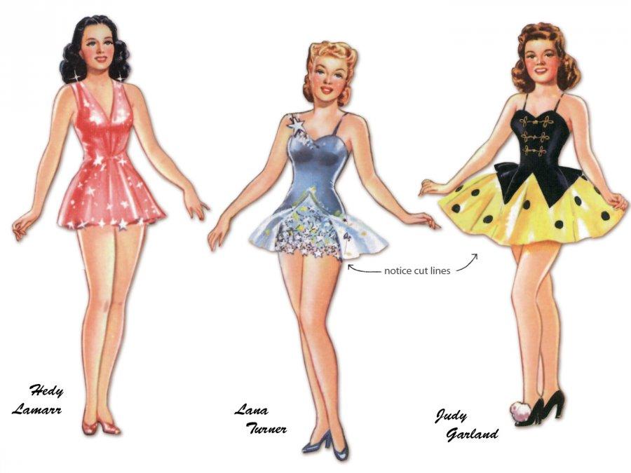 Как нарисовать одежду для бумажных кукол